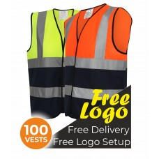 100 Hi Viz Two Tone Vests Bundle Deal