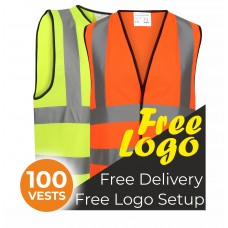 100 Hi Viz Safety Vests Bundle Deal