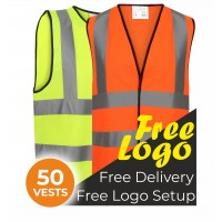 50 Hi Viz Vests Bundle Deal