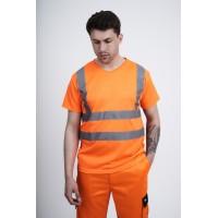 kapton® High Visibility Short Sleeve V-Neck T-Shirt (001)