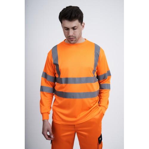 kapton® High Visibility Long Sleeve Breathable Crew Neck T-shirt