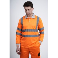 kapton® High Visibility Long Sleeve Polo Shirt