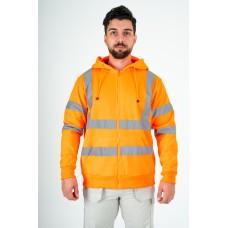 kapton® High Visibility Zip Up Hooded Sweatshirt