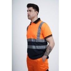 kapton® High Visibility Two Tone Short Sleeve Polo Shirt