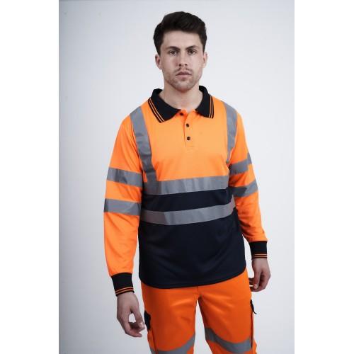 kapton® High Visibility Two Tone Long Sleeve Polo Shirt