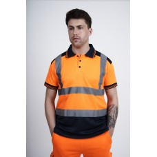 kapton® Rail Spec High Visibility Short Sleeve Polo Shirt GO/RT RIS-3279-TOM standard