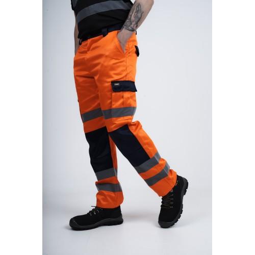 kapton® High Visibility Polycotton Cargo Combat Work Trousers