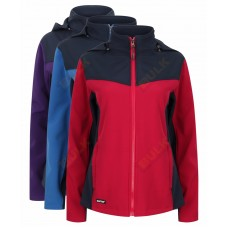 Kapton® Womens Softshell Jacket with Detachable Hood