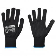 Blackrock® Protective Safety Polka Dot Grip Glove EN388 - Black (Pack of 12)