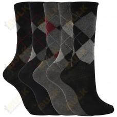Mens Argyle Work Dress Socks Pack of 6 Size 6-11