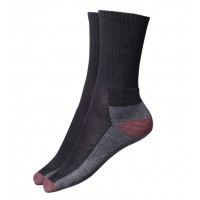 Dickies Cushion Crew Socks Black/Red 5 Pack Size 6-11
