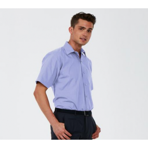 UNEEK® Men's Tailored Fit Short Sleeve Poplin Shirt