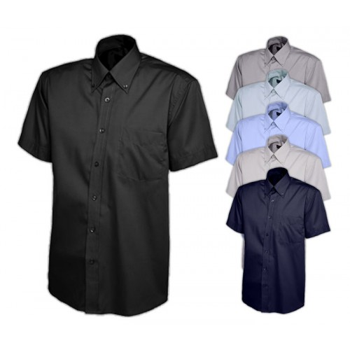 UNEEK® Mens Pinpoint Oxford Half Sleeve Shirt