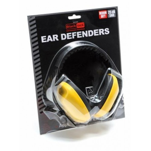 Blackrock® Yellow Comfort Headband Ear Defenders 27db Safety Muffs