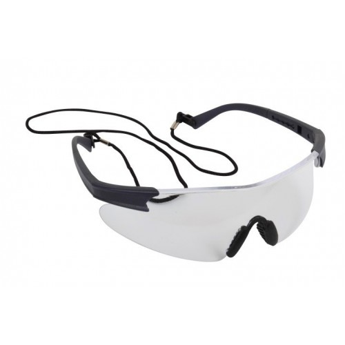 Blackrock® Premium Clear Safety Spectacle Inc. Carry Bag & Neck Cord EN166