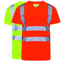kapton® High Visibility Short Sleeve V-Neck T-Shirt (001)