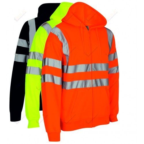 kapton® High Visibility Zip Up Hooded Sweatshirt