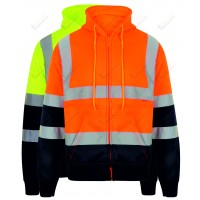 kapton® High Visibility Two Tone Zip Up Hooded Sweatshirt