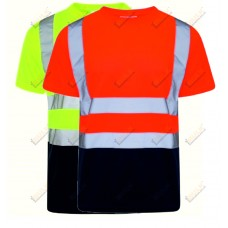 kapton® High Visibility Crew Neck Two Tone Short Sleeve T- Shirt