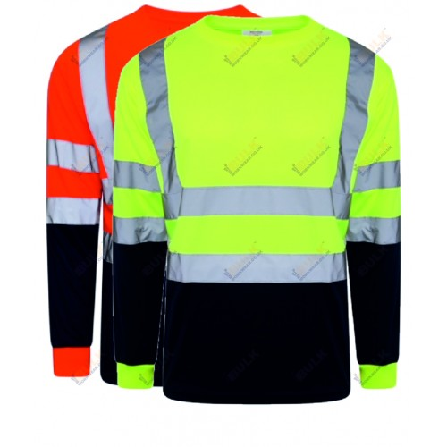 kapton® High Visibility Two Tone Long Sleeve Crew Neck T-Shirt