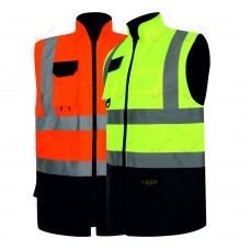 kapton® High Visibility Two Tone Padded Reversible Body Warmer