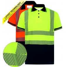 kapton® High Visibility Short Sleeve Polo Shirt - Segmented Stretch Reflect