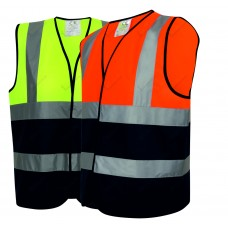 50 High Visibility Two Tone Vests