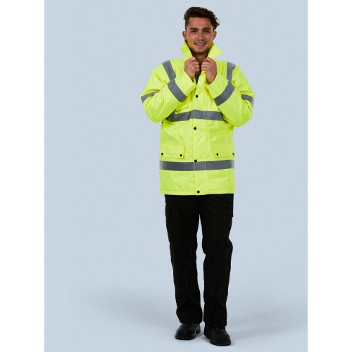 High Visibility Road Safety Jacket Parka