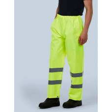Hi Visibility Elasticated Waterproof Trouser