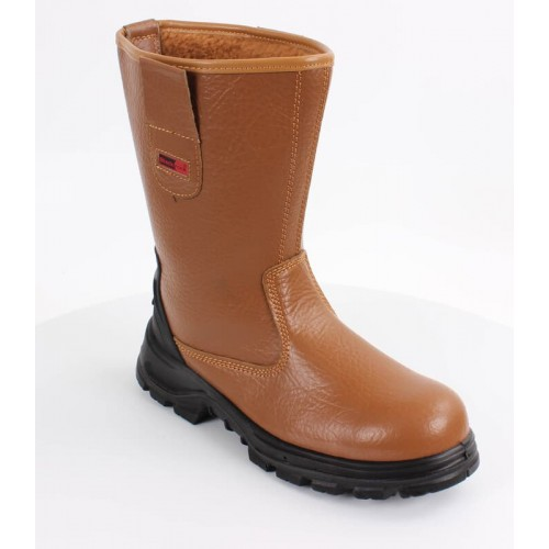 Blackrock® Fur Lined Safety Rigger Boot S1-P SRC - Tan