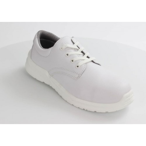 Blackrock® Hygiene Lace Up Shoe S2 SRC - White - Steel Toe - Anti Slip