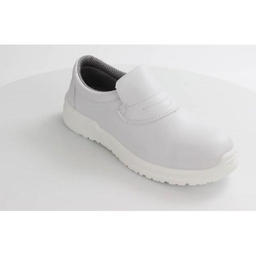 Blackrock® Hygiene Slip-on Shoe S2 SRC -White - Steel toe - Slip Resistant