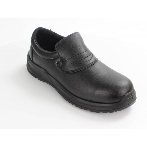 Blackrock® Hygiene Slip-on Shoe S2 SRC -Black - Steel toe - Slip Resistant